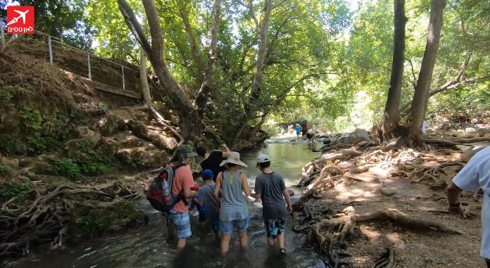 טיולי מים בצפון מסלול מים בנחל שניר